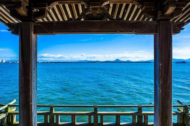 滋賀県 満月寺 琵琶湖